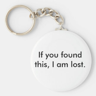 Lost and Found Key-Chain Keychain