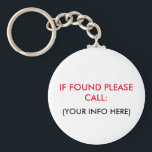 "LOST AND FOUND KEYCHAIN<br><div class=""desc"">LOST AND FOUND KEYCHAIN</div>"