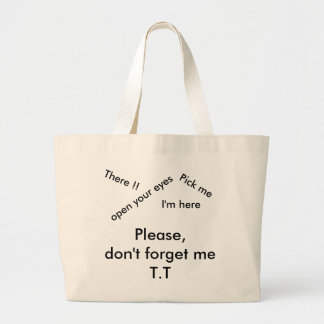 Lost and found large tote bag
