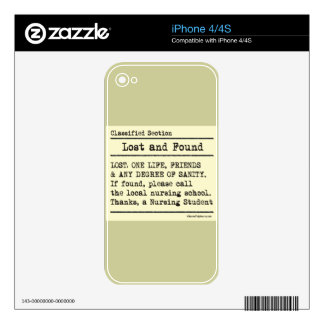 Lost and Found - Nursing Student Life iPhone 4S Skins