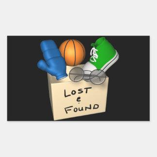Lost And Found Rectangular Sticker
