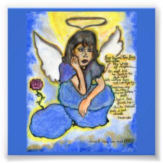 Lost Angel Original Drawing Photographic Print