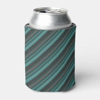 Lost at Sea Green Diagonal Pinstripes Can Cooler