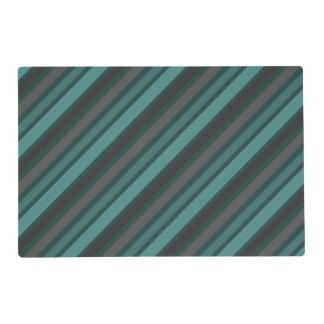 Lost at Sea Green Diagonal Pinstripes Placemat