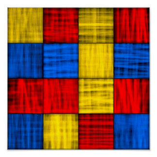 Lost At The Intersection - Abstract 12x12 Archival Poster