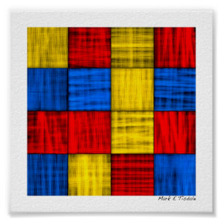 Lost At The Intersection - Colorful Abstract Mini Poster