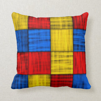 Lost At The Intersection - Colorful Abstract Throw Pillow
