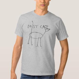 Lost Cat In Grey Tee Shirt
