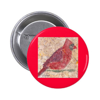 Lost Cave Red Cardinal Button