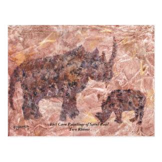 Lost Cave Rhino Post Card