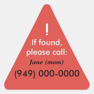 Lost Child Triangle Sticker