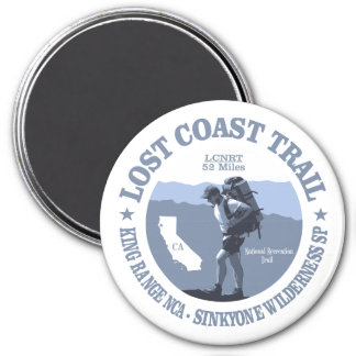 Lost Coast Trail (rd) 3 Inch Round Magnet