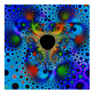 Lost Color. poster print fractal hole