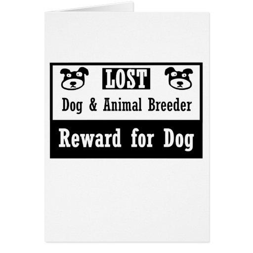 Lost Dog Animal Breeder Card