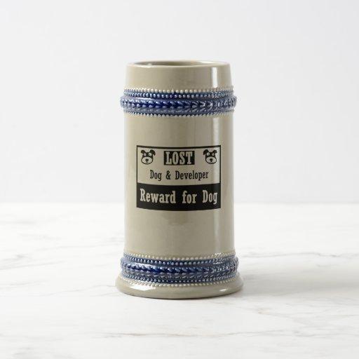 Lost Dog Developer 18 Oz Beer Stein