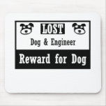 Lost Dog Engineer Mousepads