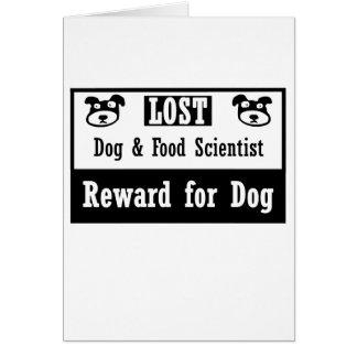Lost Dog Food Scientist Card
