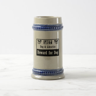 Lost Dog Librarian Coffee Mugs