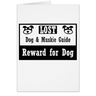 Lost Dog Muskie Guide Card