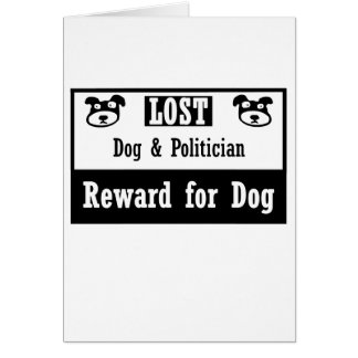 Lost Dog Politician Card