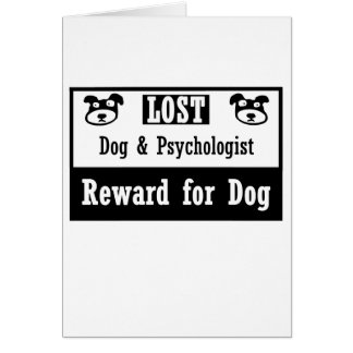 Lost Dog Psychologist Card
