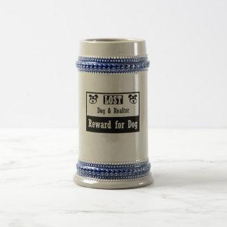 Lost Dog Realtor Beer Stein