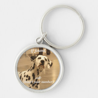 Lost Dog Tags Silver-Colored Round Keychain
