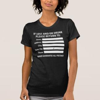 Lost/Drunk Return Label Tee Shirt