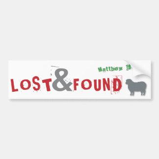 Lost & Found Christian parable bumper sticker Car Bumper Sticker