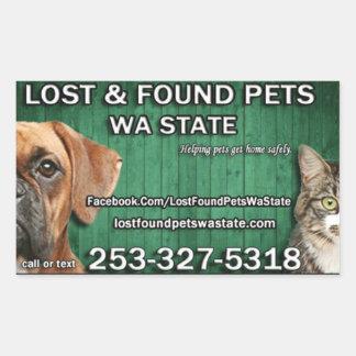 Lost & Found Pets WA state stickers