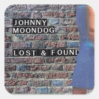 Lost & Found square sticker