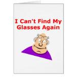 Lost Glasses Again Greeting Card