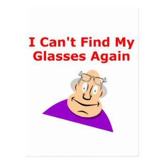 Lost Glasses Again Postcard