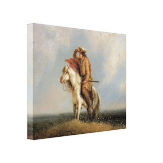 Lost Greenhorn Cowboy 1845 Art 3D Wrapped Canvas