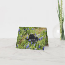 Lost Hat and Bluebonnets Card