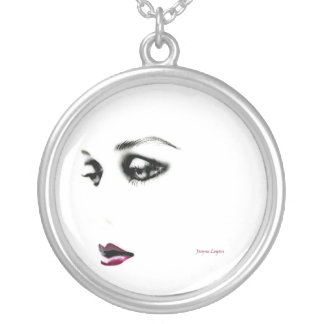 Lost in a Dream Beauty, Womens' Necklace Round Pen