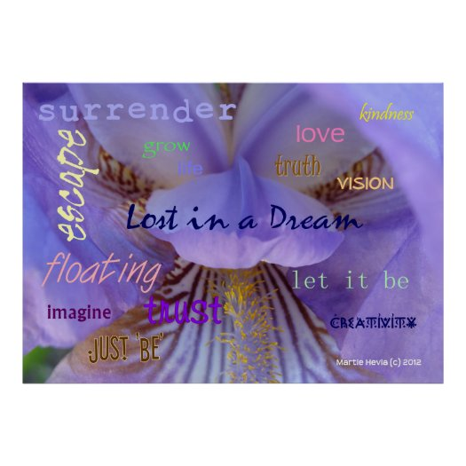 Lost in a Dream WordArt™ Poster