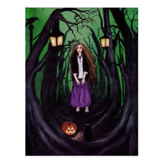LOST IN A HAUNTED FOREST POST CARDS