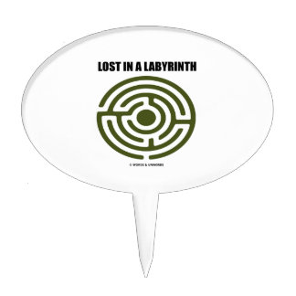 Lost In A Labyrinth Maze Humor Cake Topper