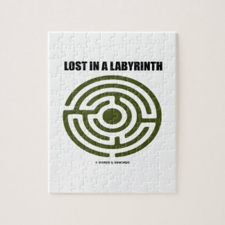 Lost In A Labyrinth Maze Humor Jigsaw Puzzle