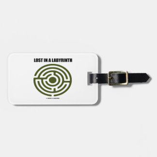 Lost In A Labyrinth Maze Humor Luggage Tag