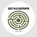 Lost In A Labyrinth (Maze) Stickers