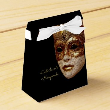 Halloween Themed Lost In A Masquerade Halloween Party Favor Boxes