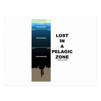 Lost In A Pelagic Zone (Earth Science Ocean) Postcard