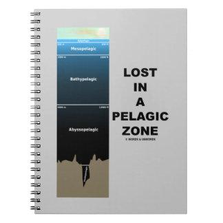 Lost In A Pelagic Zone (Oceanography Humor) Notebook