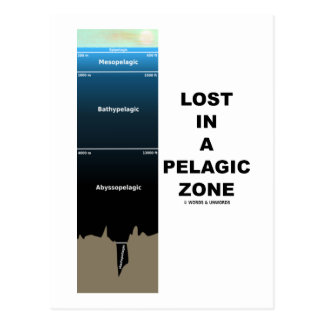 Lost In A Pelagic Zone Oceanography Humor Postcards