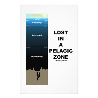 Lost In A Pelagic Zone (Oceanography Humor) Stationery