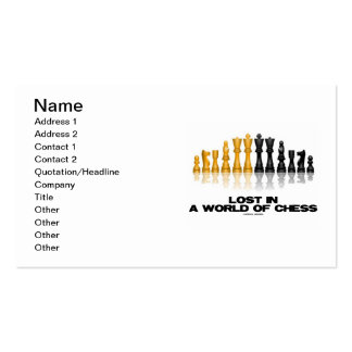 Lost In A World Of Chess (Reflective Chess Set) Business Cards