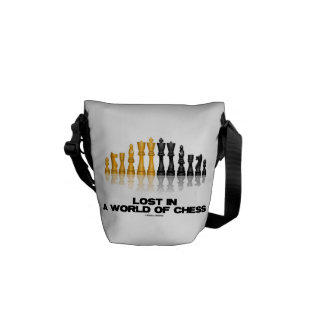 Lost In A World Of Chess (Reflective Chess Set) Courier Bag