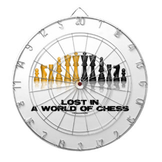 Lost In A World Of Chess (Reflective Chess Set) Dartboard With Darts